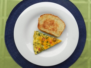Frittata and FredBread Toast